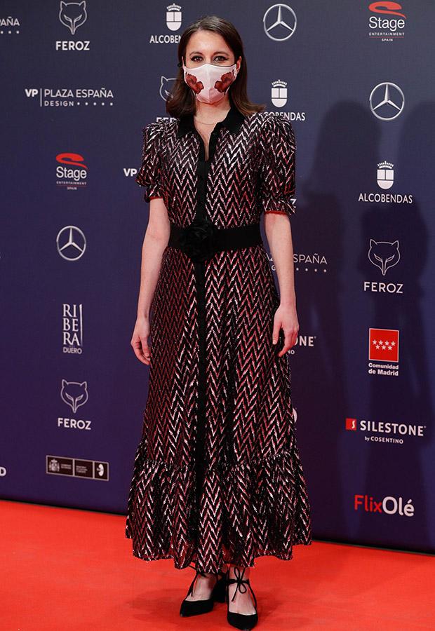Andrea Levy en la alfombra roja de los Premios Feroz