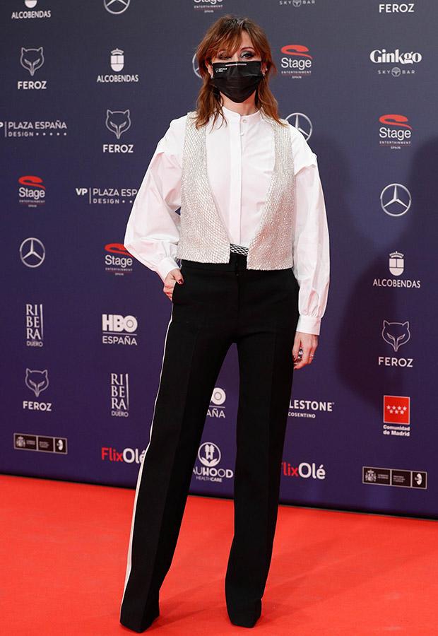 Nathalie Poza en la alfombra roja de los Premios Feroz 2021