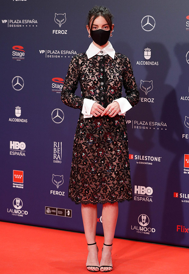 Vicky Luengo en la alfombra roja de los Premios Feroz