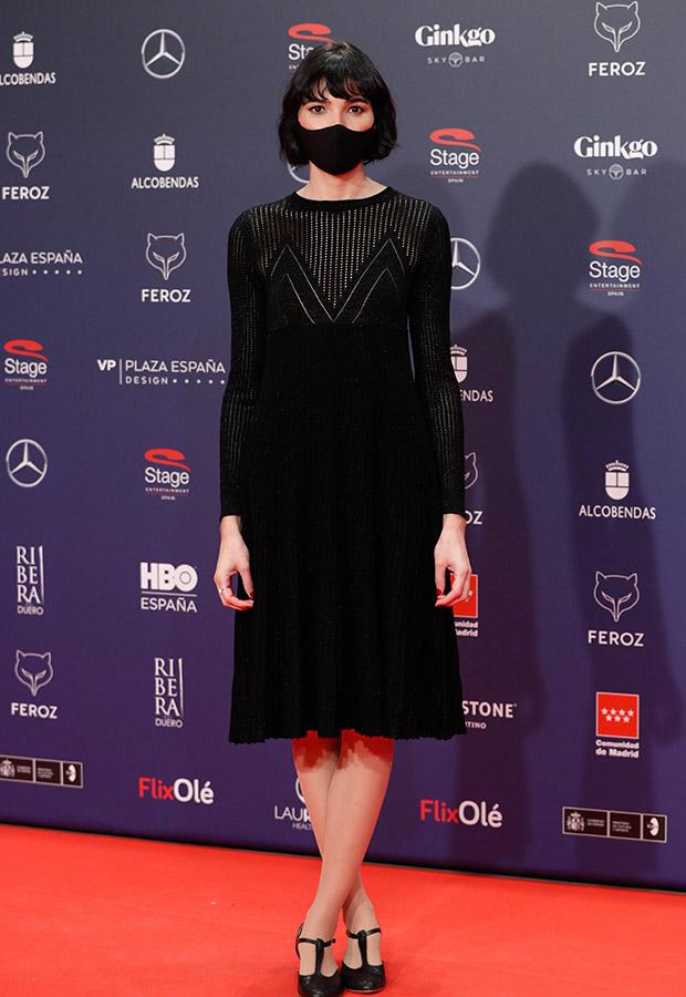 Isabel Peña en la alfombra roja de los Premios Feroz