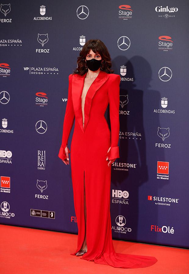 Eva Ugarte en la alfombra roja de los Premios Feroz