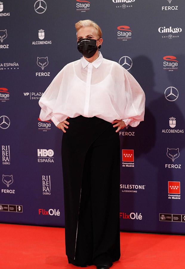 Elena Irureta en los Premios Feroz 2021
