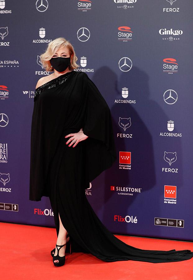 Carmen Machi en la alfombra roja de los Premios Feroz