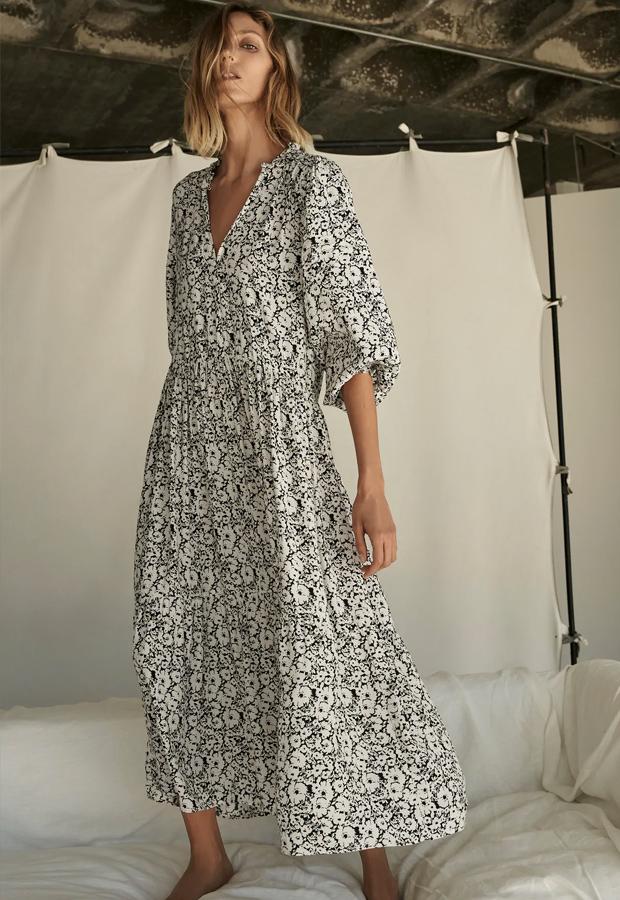 Vestido bohemios de Zara de flores