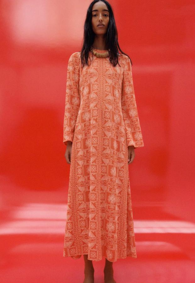 Vestido bohemios de Zara naranja