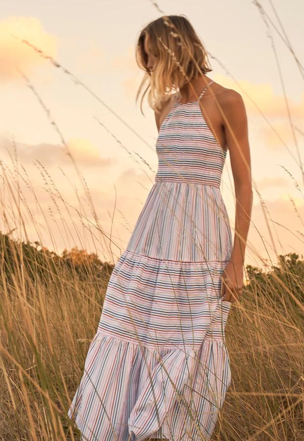 Vestido bohemios de Zara de rayas
