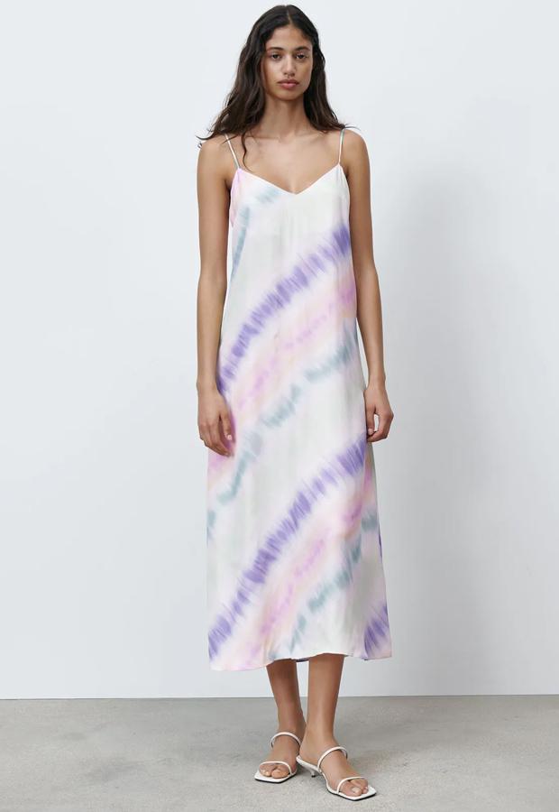 Vestido bohemios de Zara de efecto tie dye