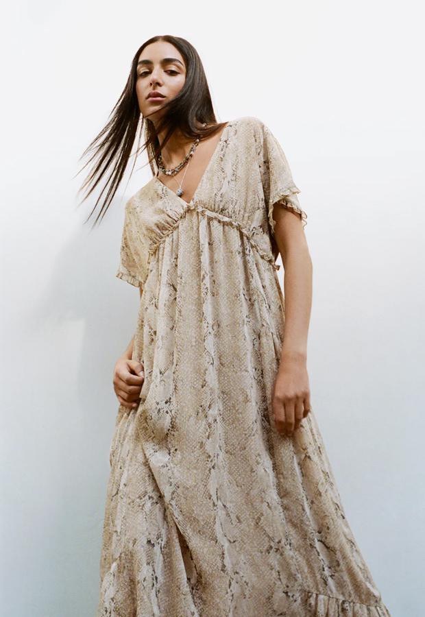 Vestido bohemios de Zara de estampado animal