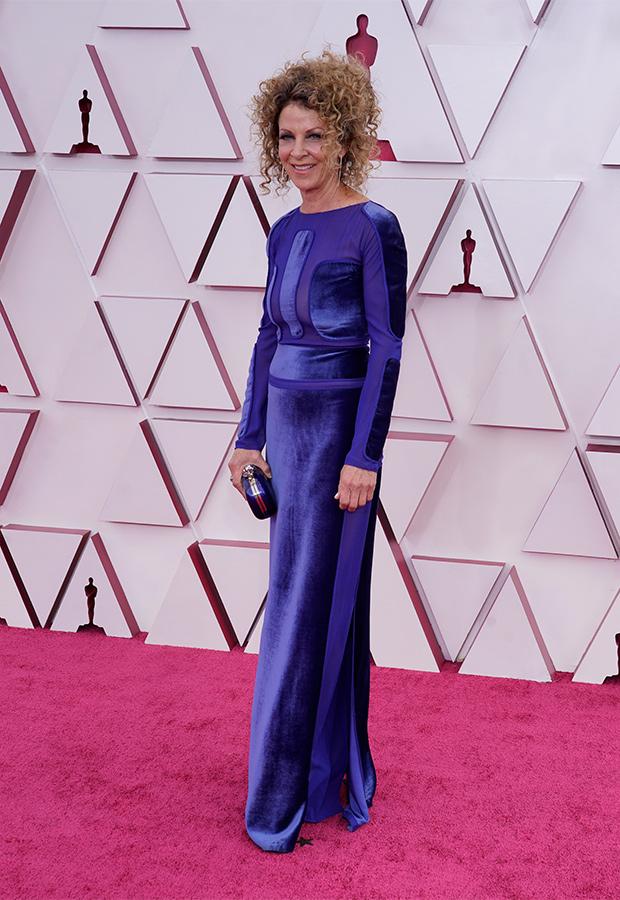 Colleen LaBaff en la Alfombra roja de los Premios Oscar 2021