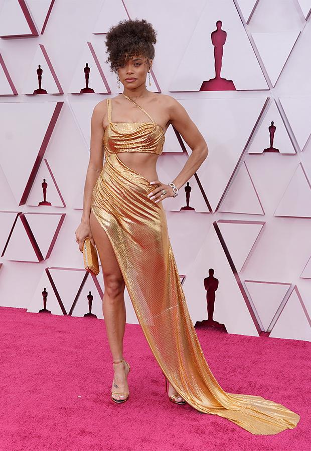 Andra Day en la Alfombra roja de los Premios Oscar 2021