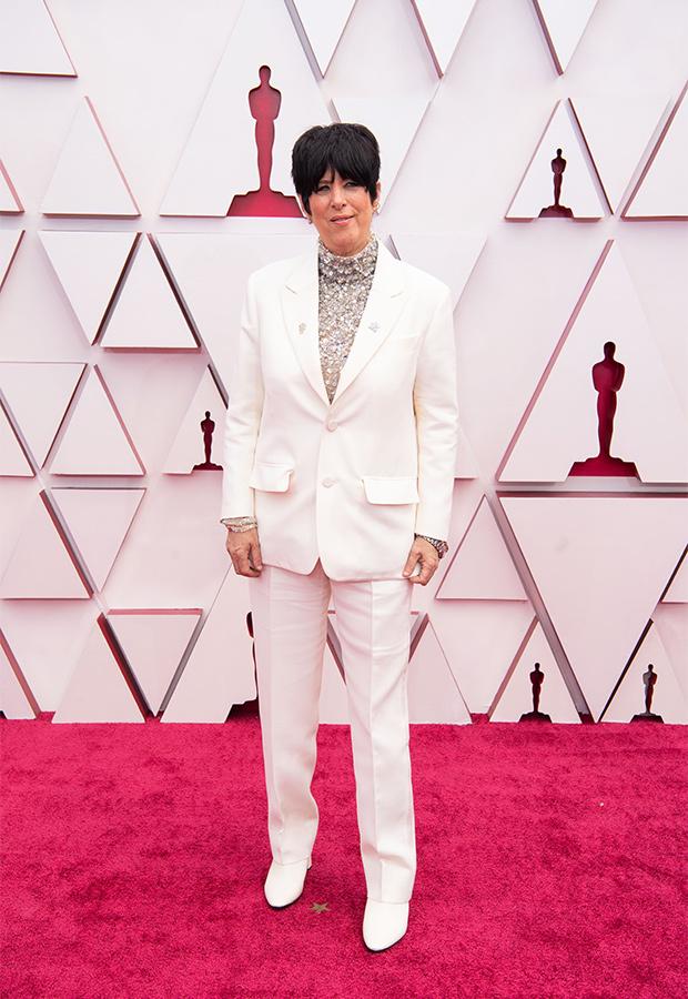 Diane Warren en la Alfombra roja de los Premios Oscar 2021