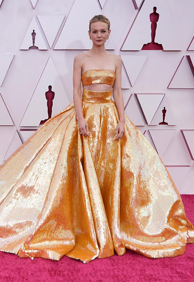 Carey Mulligan en la Alfombra roja de los Premios Oscar 2021