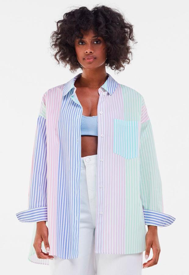 Camisa oversize de Bershka