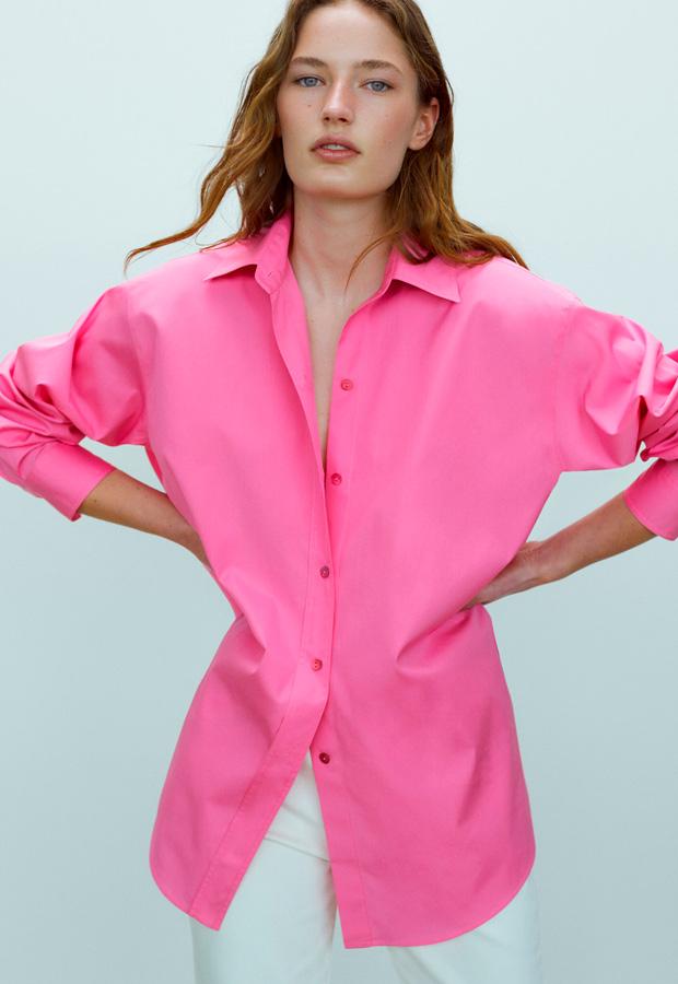 Camisa oversize de Massimo Dutti