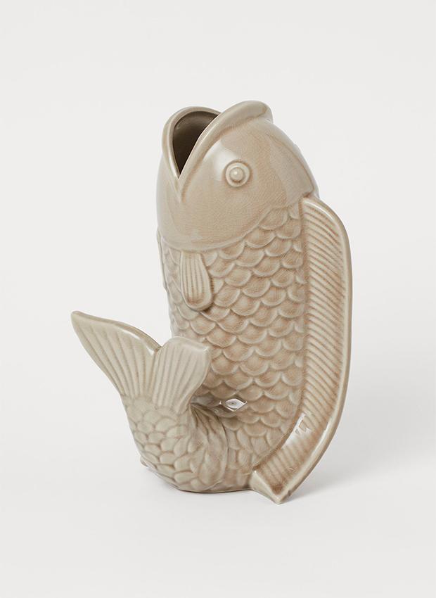 Jarrón con forma de pez de las novedades H&M Home