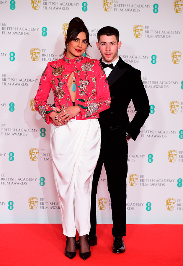 Priyanka Chopra y Nick Jonas Premios BAFTA 2021