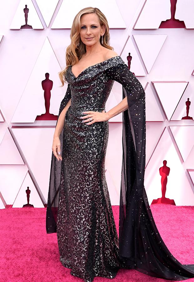 Marlee Matlin en la Alfombra roja de los Premios Oscar 2021