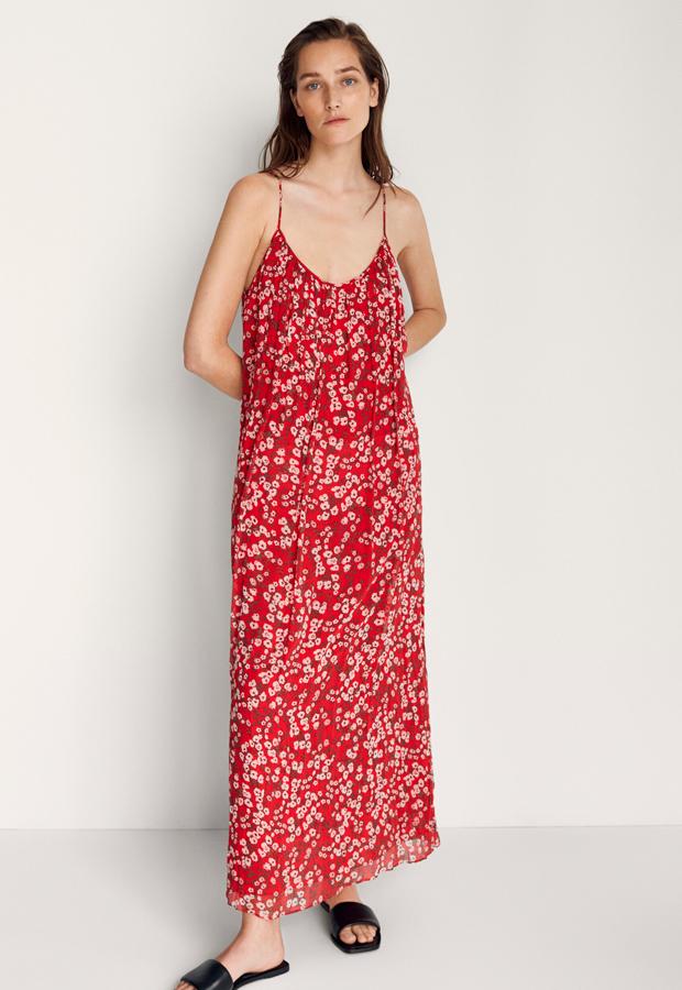 Vestido de flores de Massimo Dutti