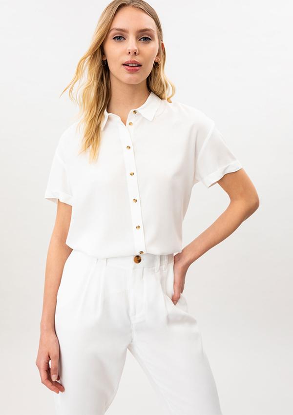 Camisa blanca de Lefties para ir a trabajar
