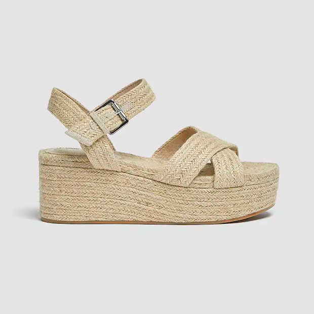 Alpargatas tendencia estilo sandalia