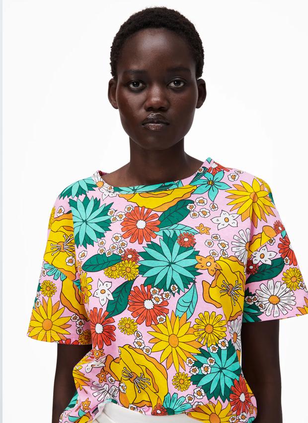 camiseta de zara de flores