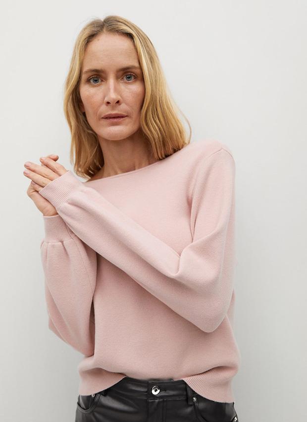 Jersey con espalda abierta rosa