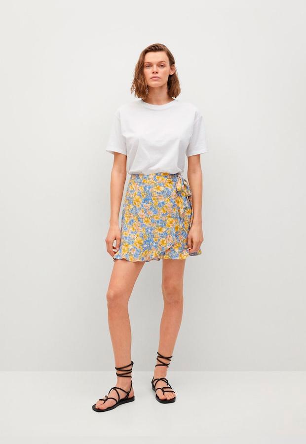 falda pareo de flores