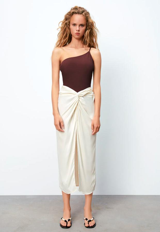 falda pareo de zara