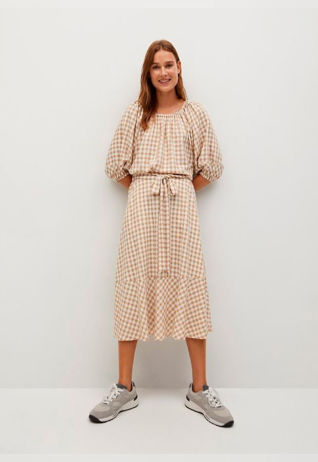 falda pareo de cuadros vichy