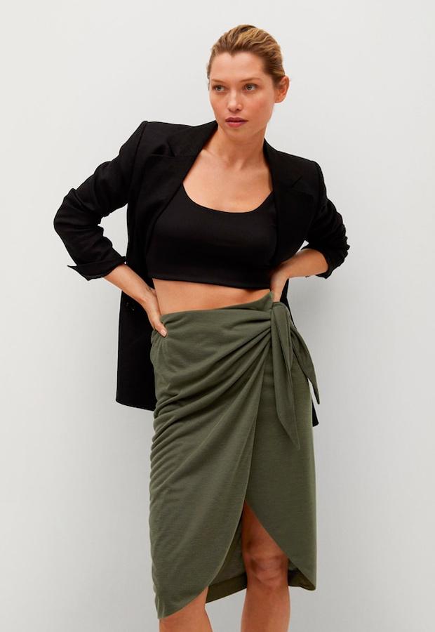 falda pareo de mango