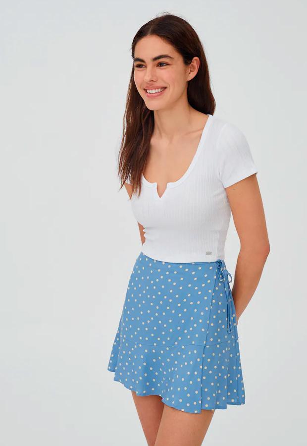 falda pareo de lunares