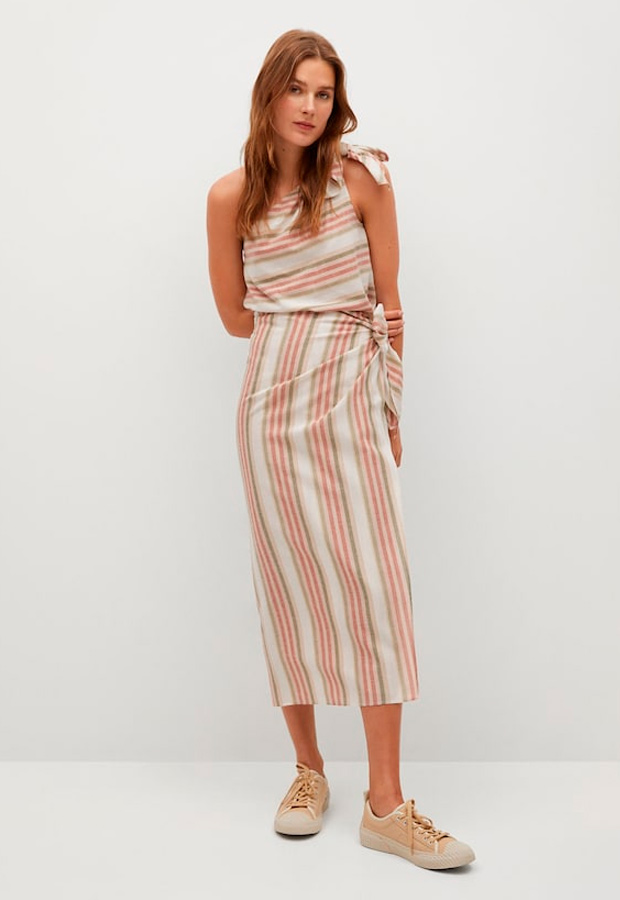 falda pareo de rayas