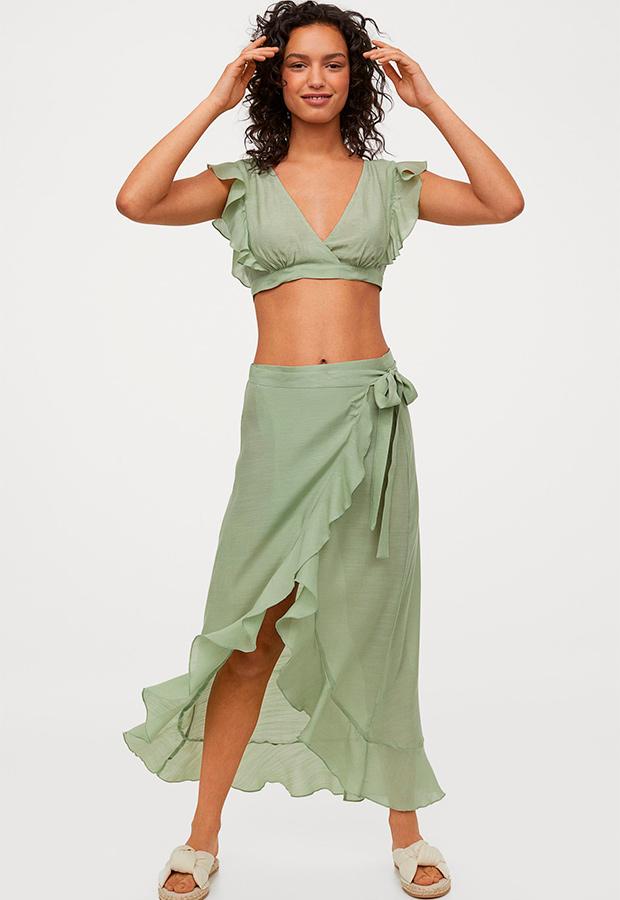 falda pareo de H&M