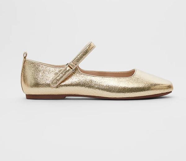 Merceditas doradas de Zara Kids