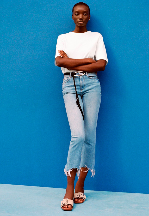 Pantalones cropped de Zara