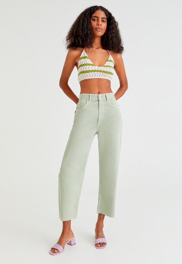 Pantalones cropped de Pull&Bear