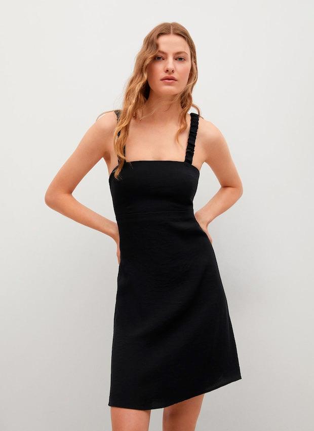 Vestido de tirantes negro