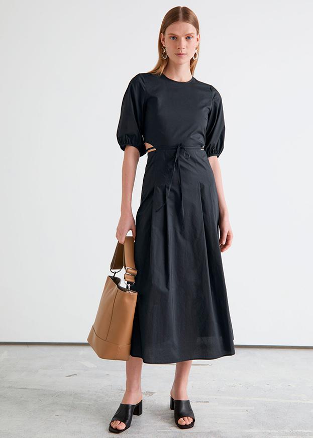 Vestido de & Other stories de primavera negro