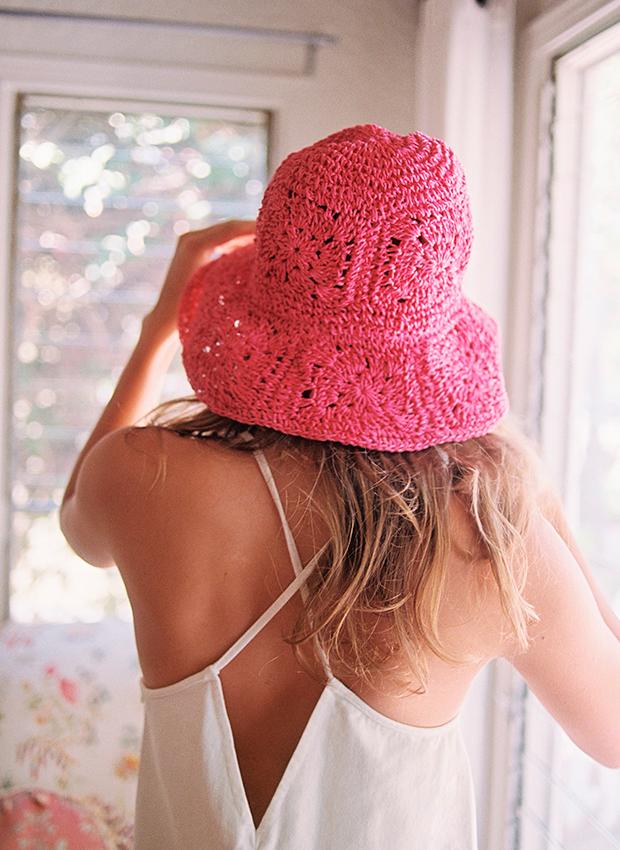 accesorios de verano Sombrero de crochet de Zara