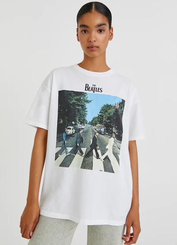 Camiseta de mujer con foto de los Beatles