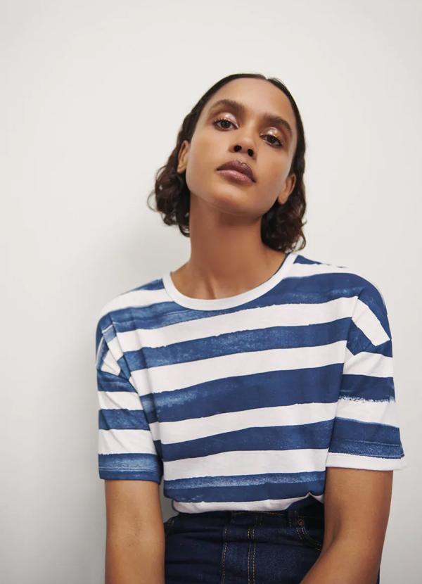 Camiseta de mujer de rayas