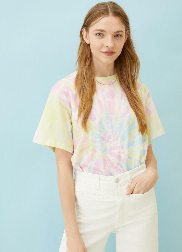 Camiseta de mujer desteñida