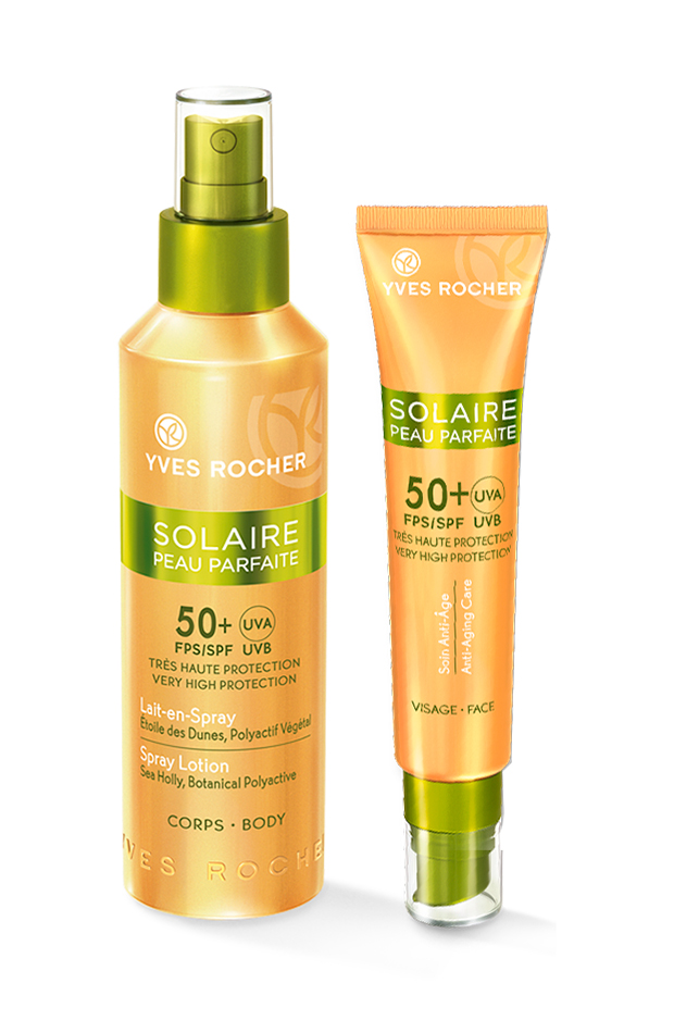 crema de protección solar Kit Tratamiento Solar FPS50 de Yves Rocher