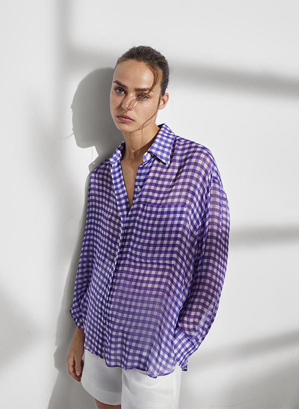 Camisa de vichy de lo nuevo de Massimo Dutti de verano