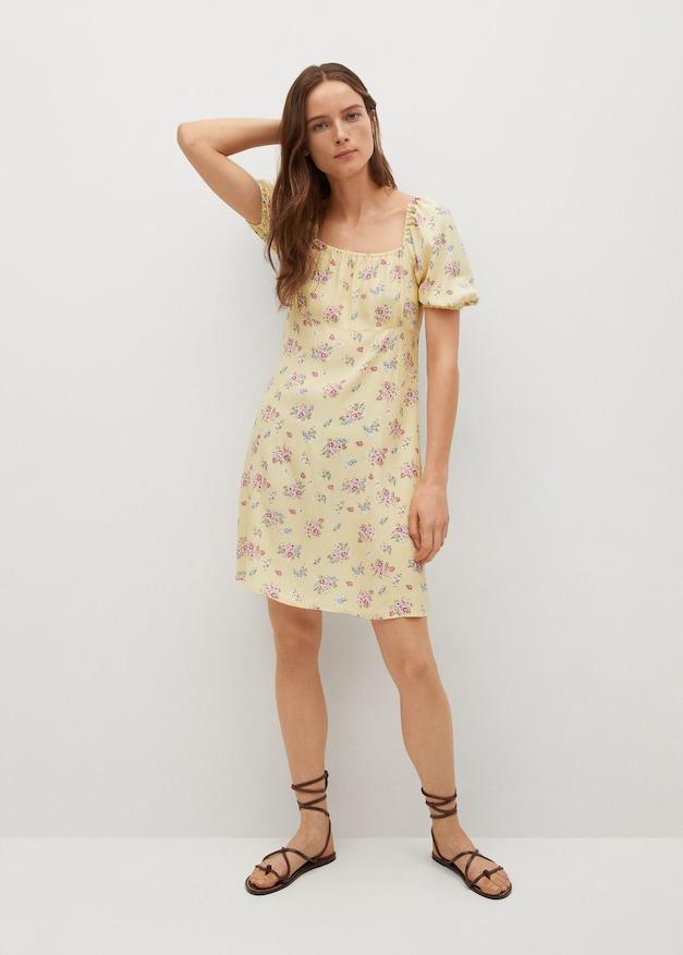 Vestido de flores de las rebajas de Mango de verano