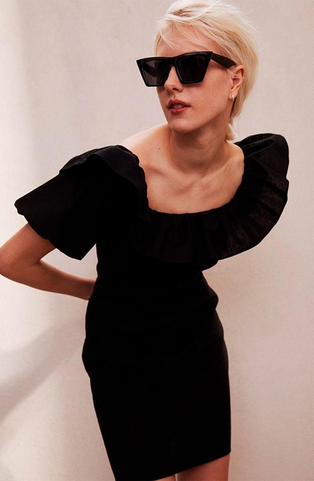 Vestido negro de las rebajas de verano de H&M