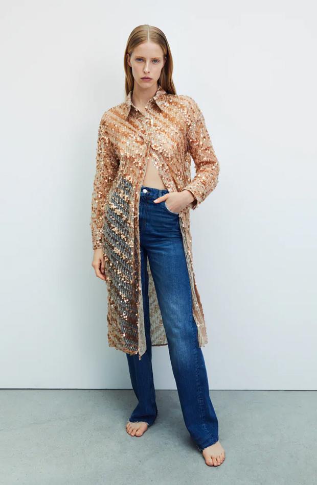Camisa de lentejuelas de las rebajas de verano de Zara