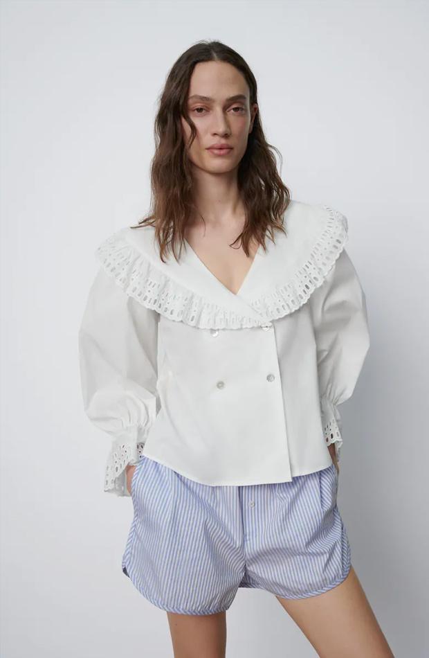 Camisa romántica de las rebajas de verano de Zara