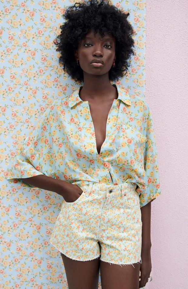 Shorts de flores de las rebajas de verano de Zara