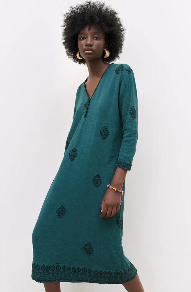 Vestido túnica de las rebajas de verano de Zara